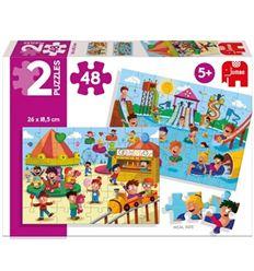 Puzzle parque acuatico y feria 2x48 pzas. - PUZZLE-PARQUE-ACUATICO-Y-FERIA-40069983