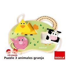 Puzzle 3 animales granja - PUZZLE-3-ANIMALES-GRANJA-45553452