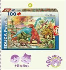 Puzzle dinosaurios 100 pzas. - PUZZLE-DINOSAURIOS-100-PZAS-2813179