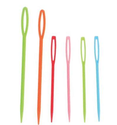 Agujas mondi plastico colores 7-9cm 30ud - AGUJAS-PLASTICO-6435002